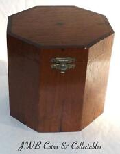 Antique Octagonal Wooden Hinged Box