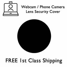 100 Pack - Webcam / Phone Camera Lens Security Cover Sticker - Black