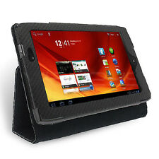 Black Textured Tri-Stand Wallet Case for Acer Iconia Tab A100 Premium Case