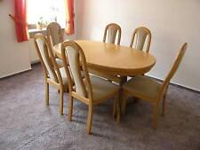 Esszimmertisch Eiche  sehr stabil /ausziehbar & 6 passende Stühle Massivholz /