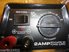 Multi Voltage 2 Amp Regulated DC Power Supply