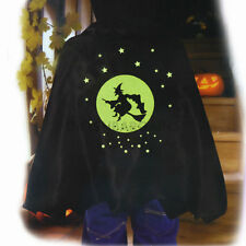 Witch Vampire Cape Spooky Stuff Kids Black Boy Girl Halloween Costume Accessory