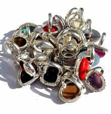 AMAZING SALE ON JEWELRY 300GRAM 925 STERLING SILVER OVERLAY GEMSTONE RING LOT!
