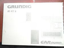 Grunndig MS411 A Radio Cd Manual/MANUAL