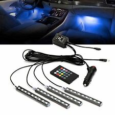 12V Multi-Color(7) LED Car Interior Underdash Lighting Kit With Sound-activated