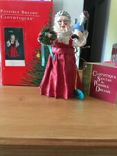 Clothtique Possible Dreams Santa Mrs Claus 6 Inches Ornament