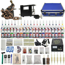 Beginner Complete Tattoo Kit Rotary Machine 2 Gun 40 Ink Needle Power Supply C17