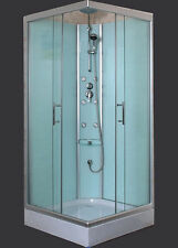 """Shower Cubicle With Glass Wall 900x900x2000mm  """"New"""""""