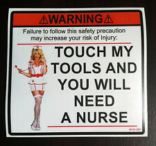 toolbox tool box sticker new nurse touch my tools decal WW Graphics and Signs