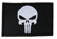 """Velcro Punisher Black Military Tactical Airsoft Morale Operator Cap Patch 3x2"""""""
