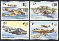 Fiji 1981 Military Aircraft/Planes/WWII/Flying Boat/Aviation/Transport 4v n39974