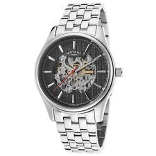 ROTARY GB03876-04 GENTS 40MM SILVER STEEL BRACELET & CASE MINERAL GLASS WATCH