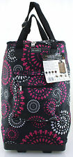 Light Weight Folding shopping Bag Trolley luggage Weekend Cabin Case Sparkles