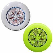 NEW Discraft ULTRA-STAR 175g Ultimate Frisbee Disc (2 Pack) WHITE/YELLOW