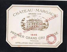 MARGAUX 1ER GCC VIEILLE LITHOGRAPHIE CHATEAU MARGAUX 1946 ETS NICOLAS §24/07§