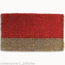 """Contemporary Modern Red Stripe Boot Scrape Coir Outdoor Doormat Mat 18"""" x 30"""""""