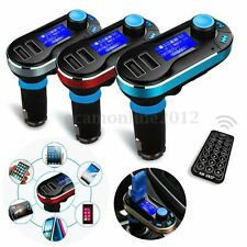 Reproductor MP3 Transmisor FM Radio Audio Coche Bluetooth USB SD Manos Libres
