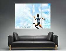 Maradona Best Football PLayer Legend Wall Art Poster Grand format A0 Large Print