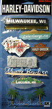 NEW 8 pc HARLEY DAVIDSON DESTINATIONS Sturgis Laughlin Rally JOLEE'S 3D Stickers