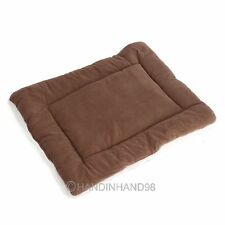 3 Sizes Dog Crate Mat Kennel Cage Pad Bed FLUFFY WASHABLE TRAVEL Pet Cushion