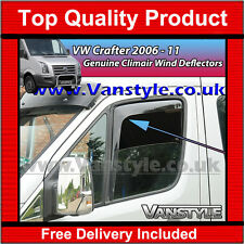 VW CRAFTER 2006-11 GENUINE CLIMAIR FRONT WIND DEFLECTORS TOP QUALITY TINT