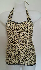 Rockabilly Halter top Leopard Print Sexy Pin-up Vintage size M   LIMITED STOCK