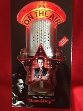 "Elvis Presley ILLUMINATED MUSICAL MICROPHONE ORNAMENT Plays ""HOUND DOG"" Lites-Up"