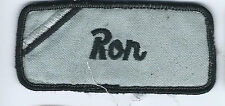 Ron name tag patch 1-5/8 X 3-5/8