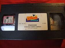 """WALT DISNEY VHS """"PINOCCHIO """" EX NOLEGGIO SENZA COVER"""