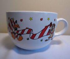 Vintage '98 Warner Bros Studio Store Looney Tunes Christmas Coffee Latte Mug Cup