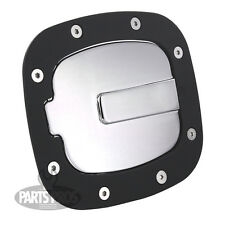 NEW Flat Black & Chrome Non-Locking Gas Fuel Door / FOR TOYOTA FJ CRUISER 07-14
