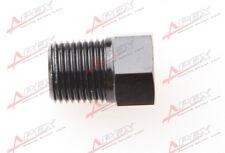 """1/8'' NPT Plug Fitting Hex Head Plug 1/8"""" NPT Aluminum Fuel Adapter Black"""