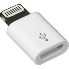 Lightning auf Micro USB Adapter iPhone 5 5s 6 6s Plus iPad iPod 8 pin Apple Weiß