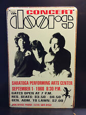 THE DOORS CONCERT VINTAGE STYLE METAL WALL SIGN  20X30 CM AMERICAN ROCK BAND