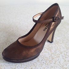 REPETTO Paris BRONZE METALLIC MARY JANE HEELS PUMPS platform SIZE 37