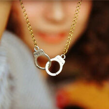 New Trendy jewelry Handcuffs pendant necklace Girl lover Valentine's Day gifts