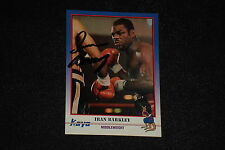 IRAN BARKLEY 1991 KAYO BOXING SIGNED AUTOGRAPHED CARD #67