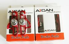 Aican Road bike brake Super Light holder shoes catridge fit Shimano, Red, 2 pc