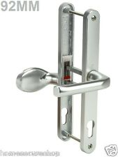 PVC DOOR HANDLES. 92PZ, 240mm Screws. Lever Pad - White, Gold, Silver