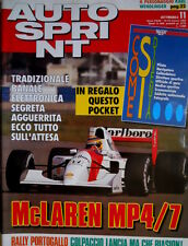 Autosprint 11 1992 McLaren Mp4/7. Intervista Max Mosley. Wendlinger SC.54