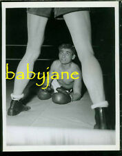 JEFF CHANDLER VINTAGE 8x10 PHOTO 1951 IRON MAN IN BOXING RING BEEFCAKE
