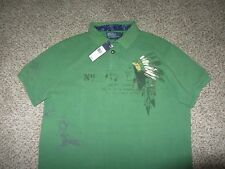 NWT NEW Polo by Ralph Lauren Green Polo Shirt Indian Custom Fit L Cotton Large