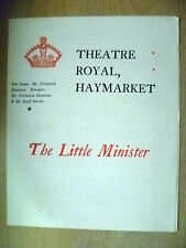1898 Theatre Royal Programme- C Maude in THE LITTLE MINISTER by J M Barrie