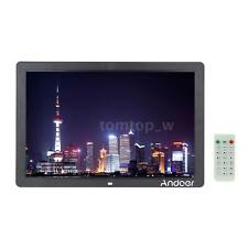 "17"" HD LED Digital Photo Picture Frame Scroll Caption MP3/4+Remot BEU O1CQ"