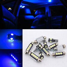 9PC Blue LED Light Interior Package Error Free kit 12V for VW Jetta 2011-2014
