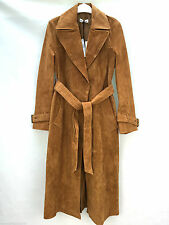 Only one!!! Size S - ZARA SUEDE LEATHER LONG TRENCH COAT JACKET BLAZER OUTERWEAR