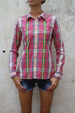 Ralph Lauren Tartan Pink Checked Vintage 80s Shirt Casuals UK 8 SLIM FIT S Small