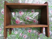 Wooden Shelf Open Cabinet Display Medical Storage handcrafted Remade redesign #