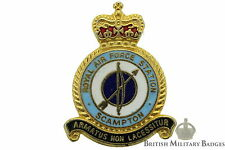 Queens Crown: Royal Air Force Scampton Airport Station Unit RAF Lapel Badge