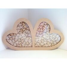 Un design unico doppia Heart Wedding Drop Box wedding guest book matrimonio regalo
